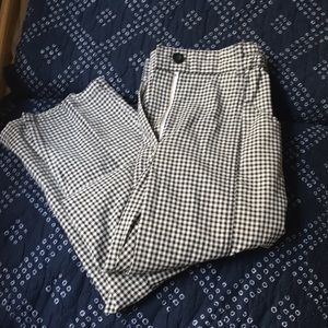 Silence and noise checkered fitted pants